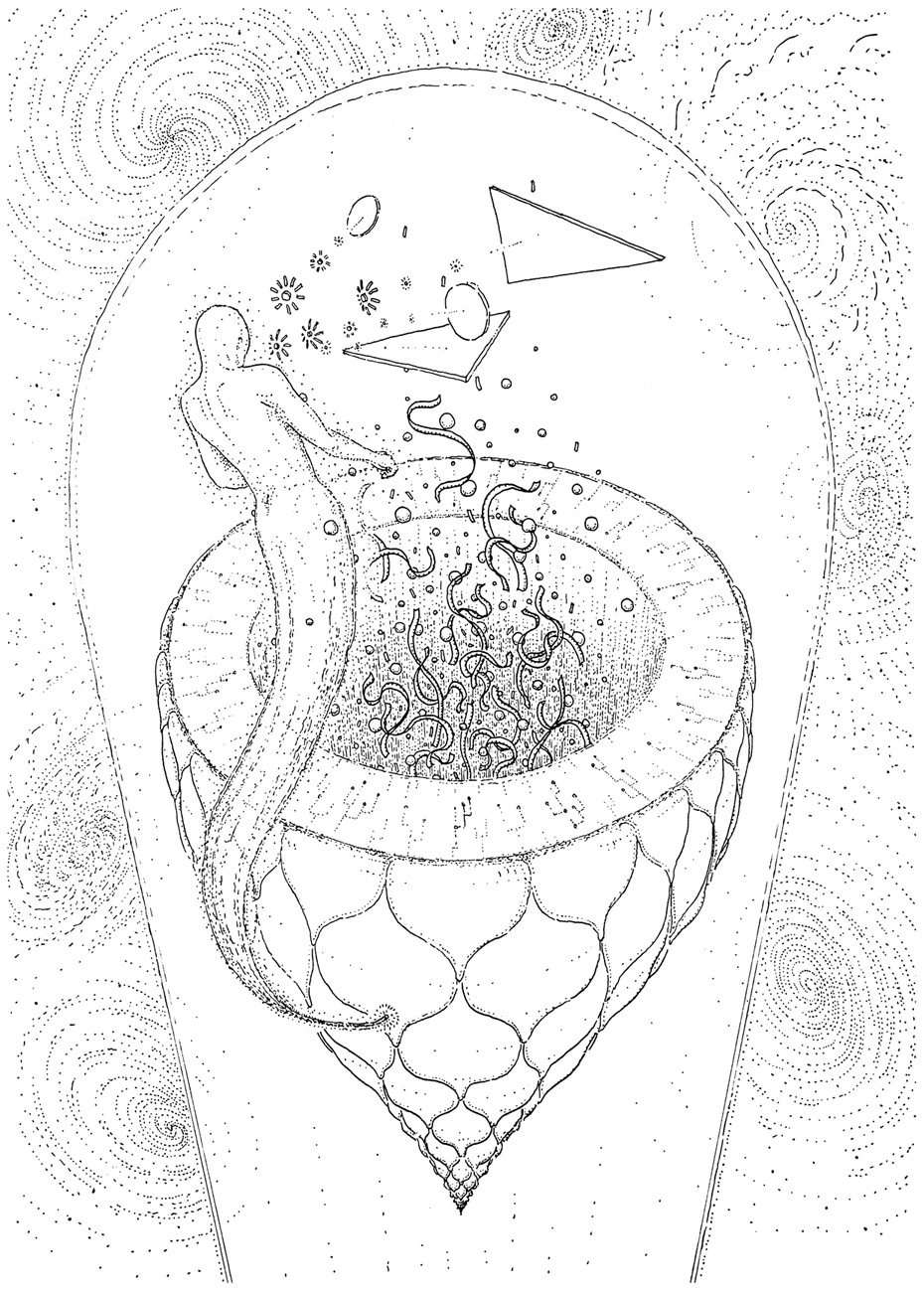 The creators, drawing by DMT vision